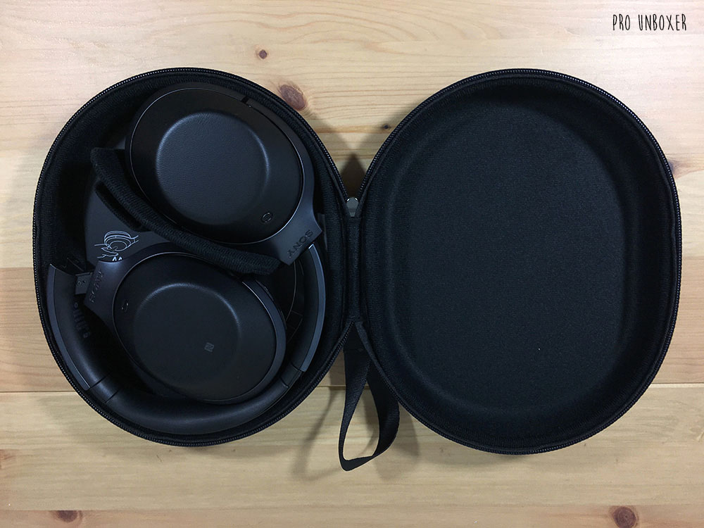 Sony MDR-1000X Headphones Inside Case