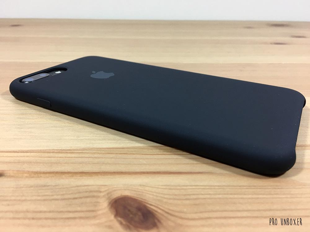 Apple iPhone 7 Plus Black Silicone Case on Black iPhone 7 Plus Back