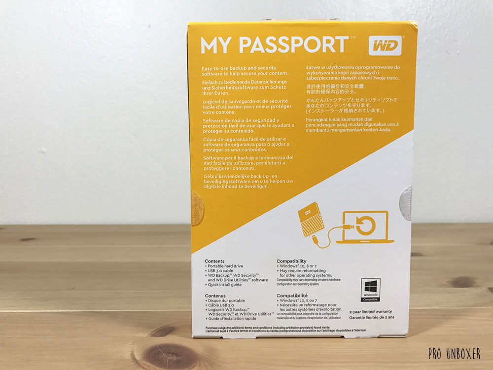 Unboxing: WD My Passport Portable External Hard Drive | Pro